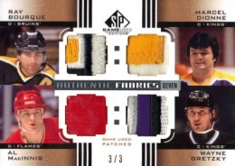 2011-12 SP Game-Used Authentic Fabrics Seven Gretzky Sakic Hull Bourque