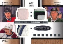 2011-12 SP Game-Used Authentic Fabrics Seven Gretzky Sakic Hull Bourque Back