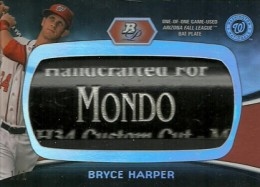 2012 Bowman Platinum Bryce Harper Bat Plate