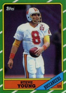 1986 Topps Football Steve Young RC