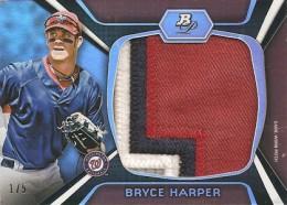 2012 Bowman Platinum Baseball Jumbo Patch Bryce Harper