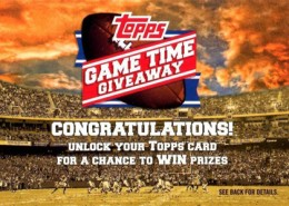 2012 Topps Football Game Time Giveaway Redemption Card