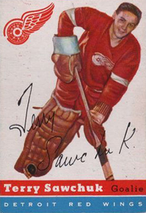 1954-55 Topps Hockey Terry Sawchuk