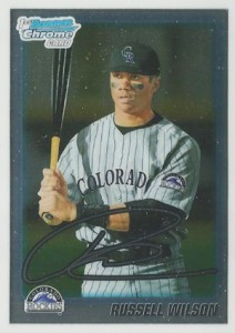 Russell Wilson Baseball Cards Predate His Football Rookie