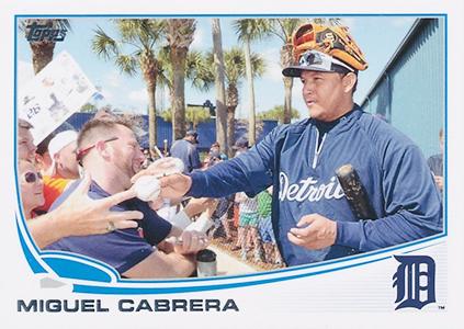 Miguel Cabrera 2013 Topps Card