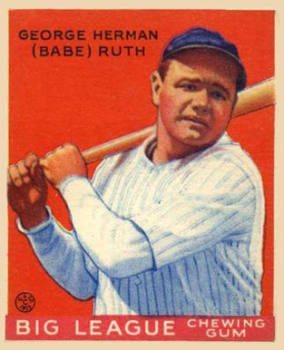 "12/"" x 18/"" VINTAGE BABE RUTH BUBBLE GUM CARD POSTER"