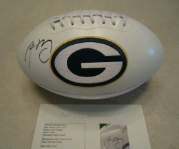 Aaron Rodgers Signed Football