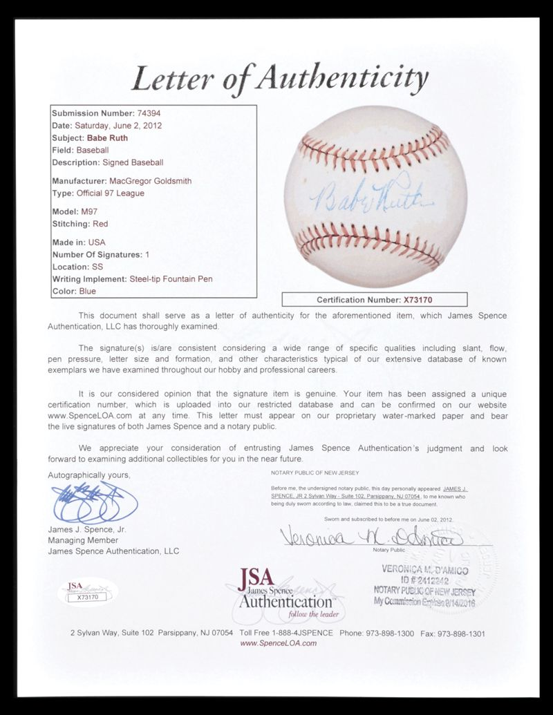 Babe Ruth Autographs And Memorabilia Guide