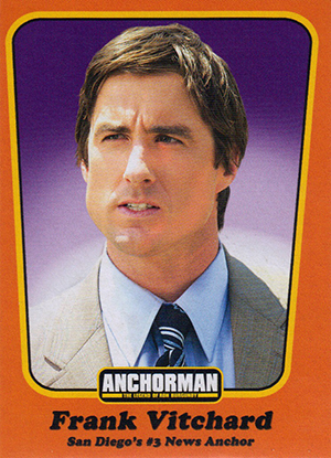Anchorman Trading Cards Included in Special Edition Blu-Ray Wes Mantooth