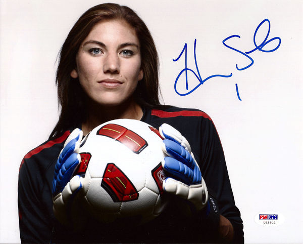 Hope Solo Soccer Cards Rookie Cards Autographed