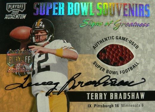 2000 Playoff Terry Bradshaw Super Bowl Souveniers Auto Image