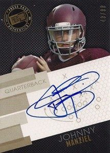 Johnny Manziel Autographs Hot In First 2014 Football Card