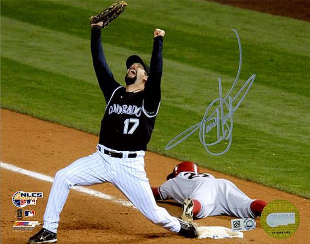 Todd helton cards rookie card autographed memorabilia for Todd helton