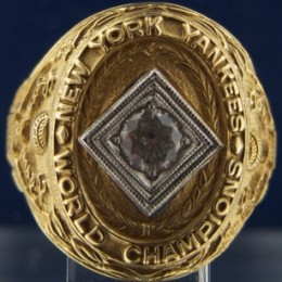 1928 New York Yankees World Series Ring
