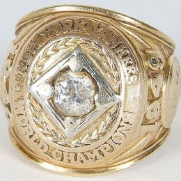 1949 New York Yankees World Series Ring