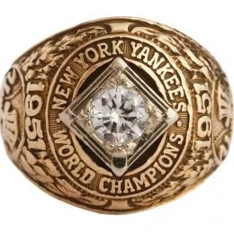 1951 New York Yankees World Series Ring