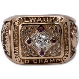 1957 Milwaukee Braves World Series Ring