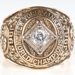 1962 New York Yankees World Series Ring