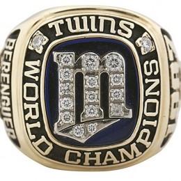 1987 Minnesota Twins World Series Ring