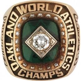 1989 Oakland Athletics World Series Ring