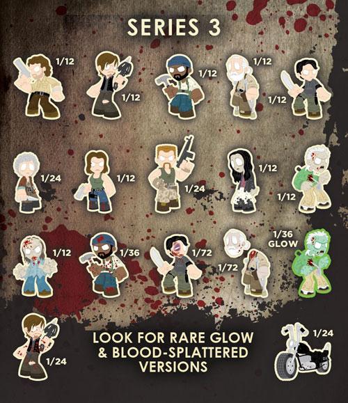2015 Funko Walking Dead Mystery Minis Series 3 Info List