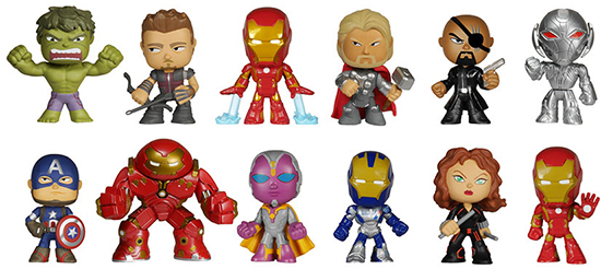2015 Funko Avengers Age Of Ultron Mystery Minis Info List