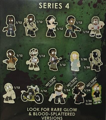 Funko Mystery Minis The Walking Dead Series 4 BARBED WIRE WALKER Zombie Vinyl