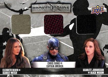 Captain America Civil War Team Captain America Chase Card CAB3 Winter Soldier Karty na wymianę Kolekcje