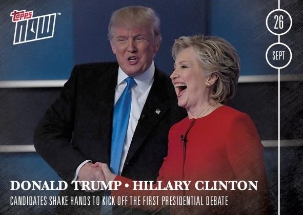 2016 Topps NOW Election16-14 Donald Trump 45th President Print Run 847