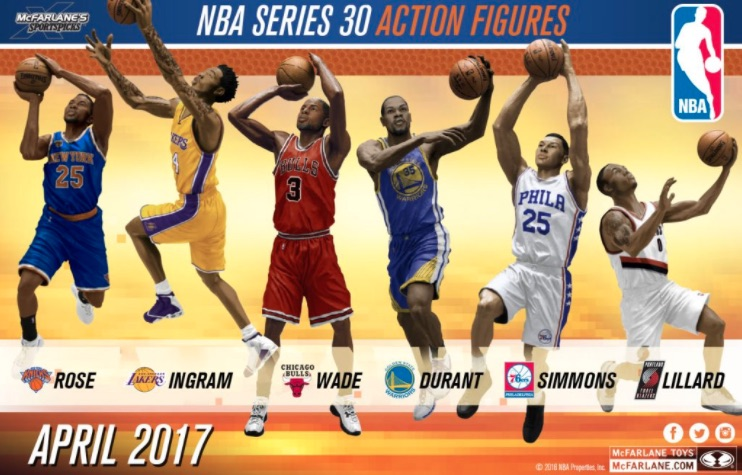 Kevin Durant Mcfarlane action figure series 30 Golden State Warriors
