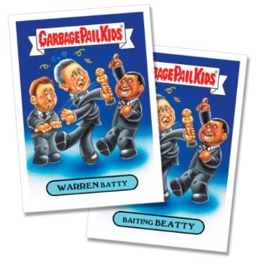 /'16 gpk Garbage Pail Kids Not-scars //Oscars Award parody 18-card sticker set