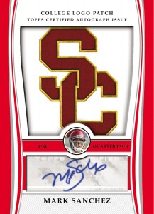 2009 Bowman Draft Football Mark Sanchez Autographed Patch