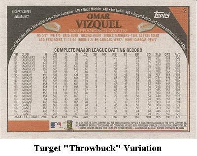 2009 Topps Baseball Card Retail Variation Guide 3