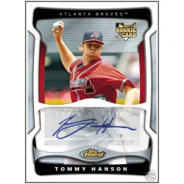 2009 Topps Finest Tommy Hanson Autographed Rookie Redemption #10