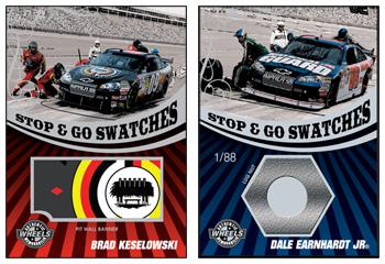 2009 Wheels Main Event race-used memorabilia cards