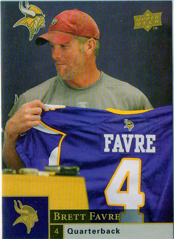 2009 Football Card of The Year: Brett Favre 112B 1