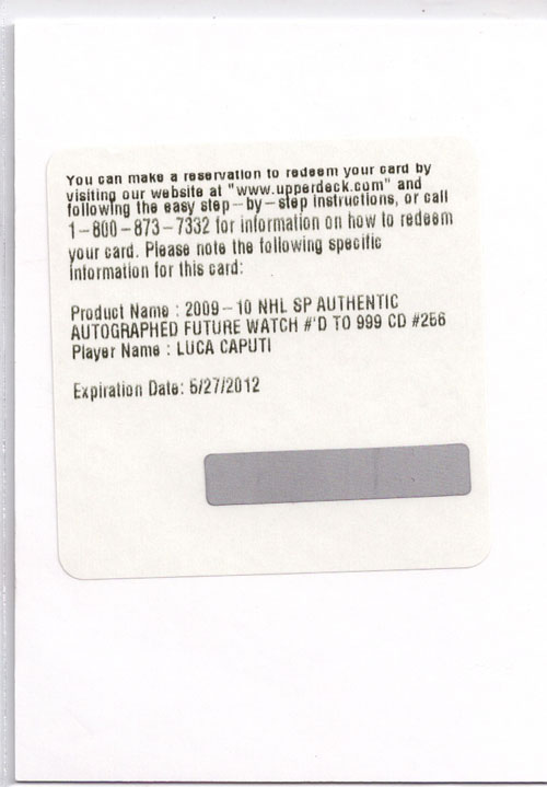 2009-10 SP Authentic Hockey Review 9