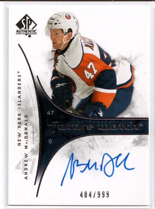 2009-10 SP Authentic Hockey Review 10