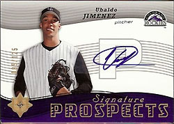 Top 5 Ubaldo Jimenez Rookie Cards 2