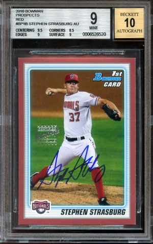 2010 Bowman Stephen Strasburg Red Auto Sells For $19,975 1