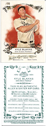 Cards That Can Come Out Of A 2010 Allen & Ginter Rip Card 1