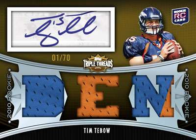 2010 Topps Triple Threads Football 8