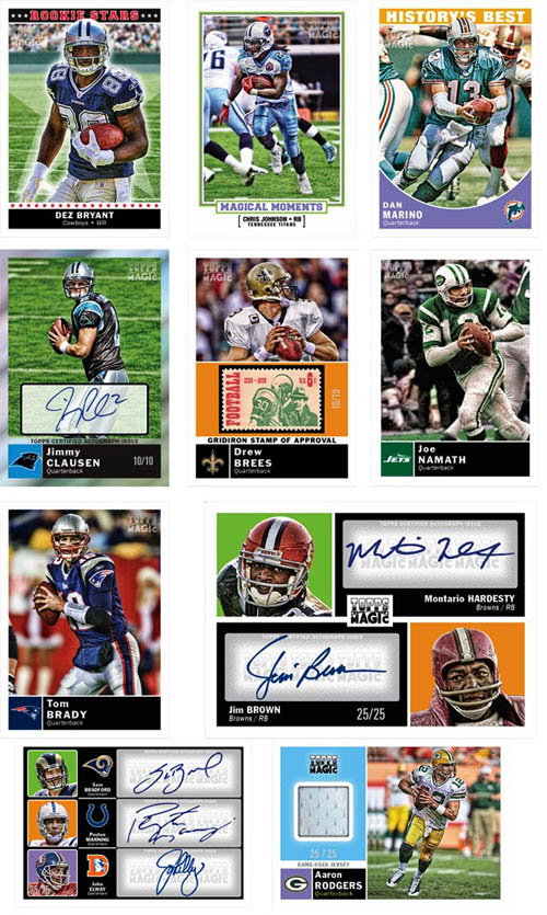 2010 Topps Magic Football 1