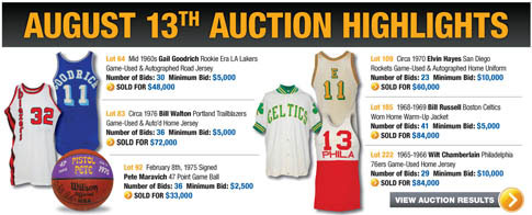 Grey Flannel's Basketball Hall of Fame Induction Auction Results 1