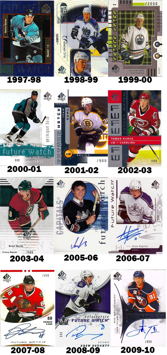 Hockey Card Design Evolution: SP Authentic Future Watch Rookie Card 1