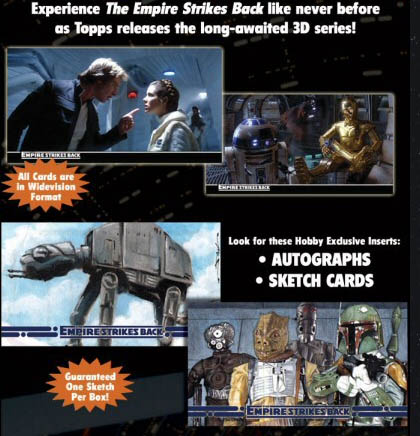 2010 Topps The Empire Strikes Back 3D Trading Cards 1