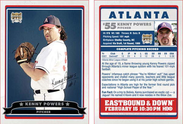 Kenny Powers Baseball Card Gallery From HBO's Eastbound & Down 1