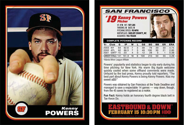 Kenny Powers Baseball Card Gallery From HBO's Eastbound & Down 3