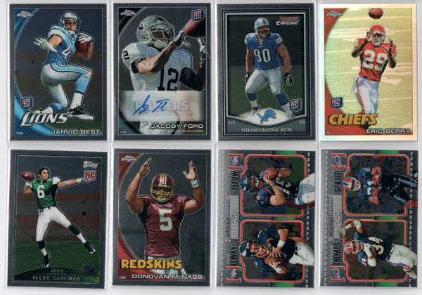 2010 Topps Chrome Football Review 1