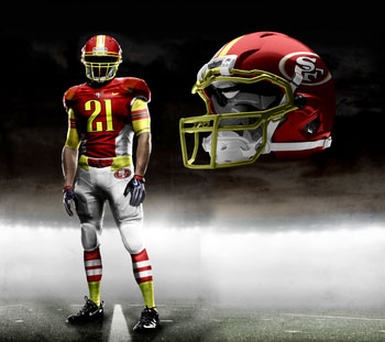 Fictional Nike NFL Uniforms Play-Fake National Media 1